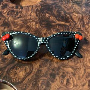 Polka Dot Cats Eye Cherry Sunglasses